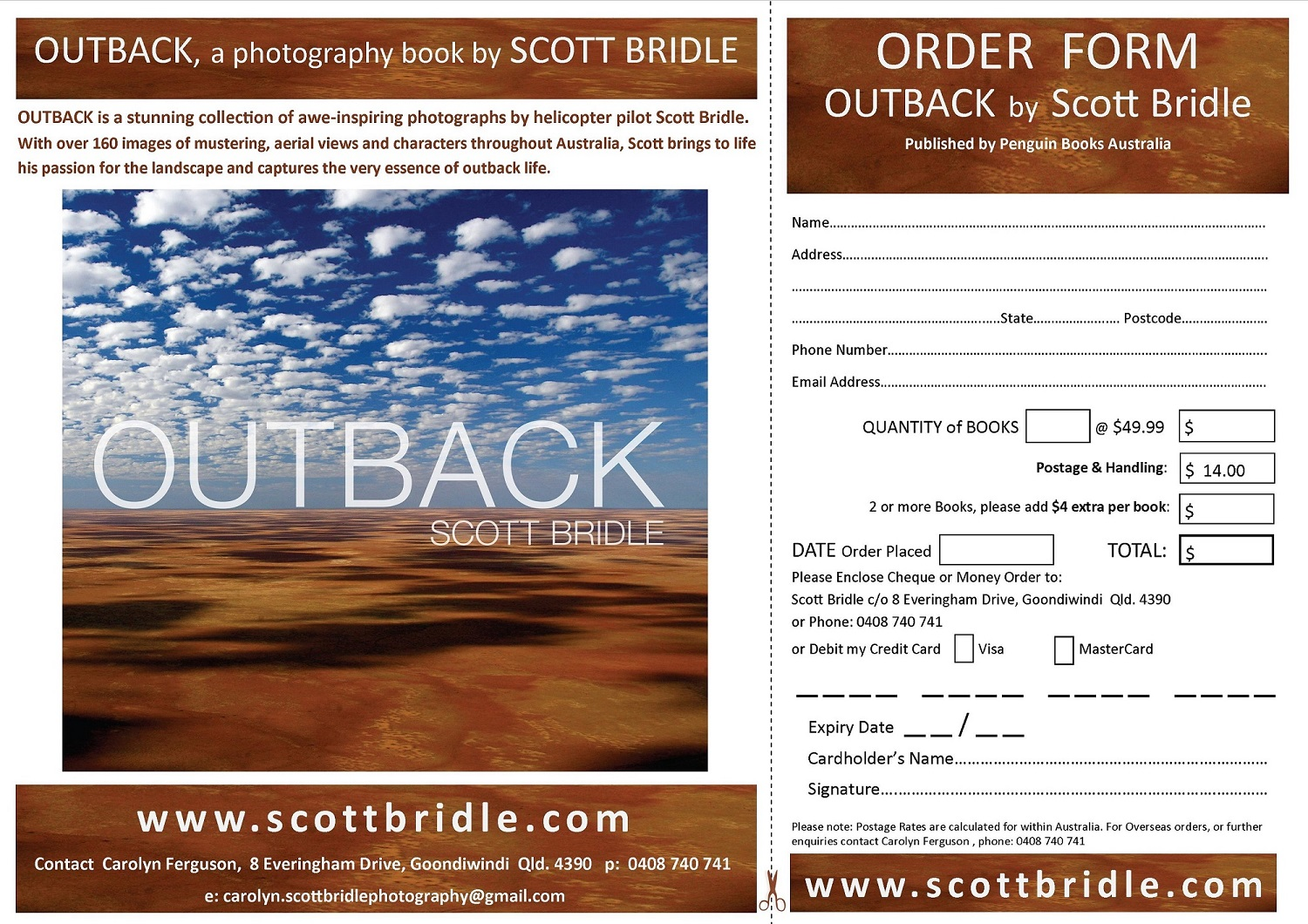 OUTBACK BOOK ORDER FORM